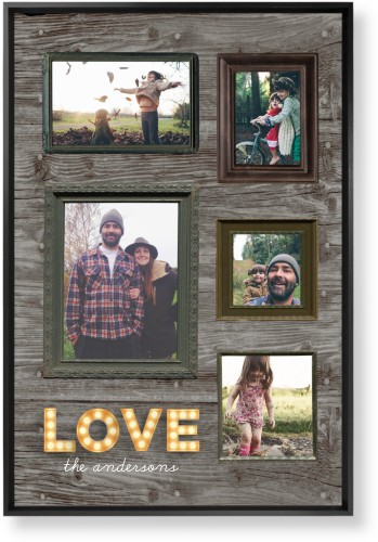 Photo Real Love Mounted Wall Art, Single piece, Black, 20 x 30 inches, Brown