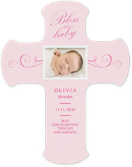 bless this baby wall cross