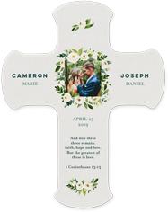 linen wedding wall cross