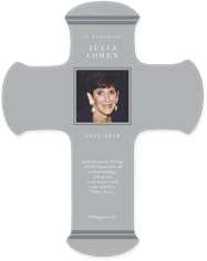 memorial stripe wall cross