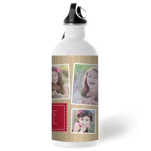 Simple Wood Stamp Water Bottle, 20 oz, DynamicColor