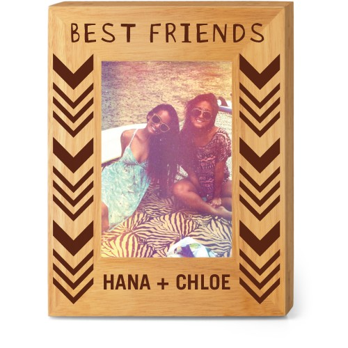 Best of Friends Wood Frame, - No photo insert, 7x9 Engraved Wood Frame, White