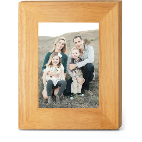 Make Your Own Statement Wood Frame, - No photo insert, 8x10 Engraved Wood Frame, White