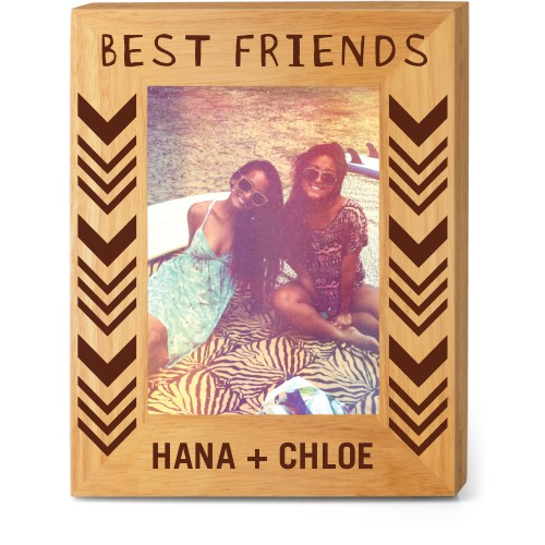 Best of Friends Wood Frame, - No photo insert, 8x10 Engraved Wood Frame, White