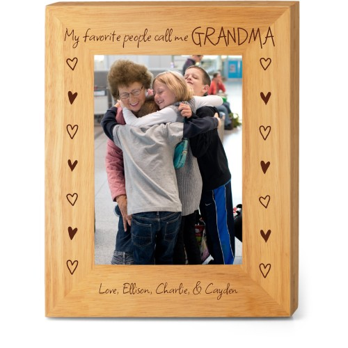 My Favorite People Wood Frame, - Photo insert, 8x10 Engraved Wood Frame, White