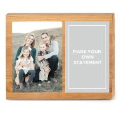 landscape 10x8 5x7 left justified portrait photo personalized wood