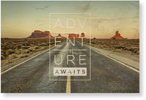 Adventure Awaits Wood Wall Art, Single piece, 20 x 30 inches, White