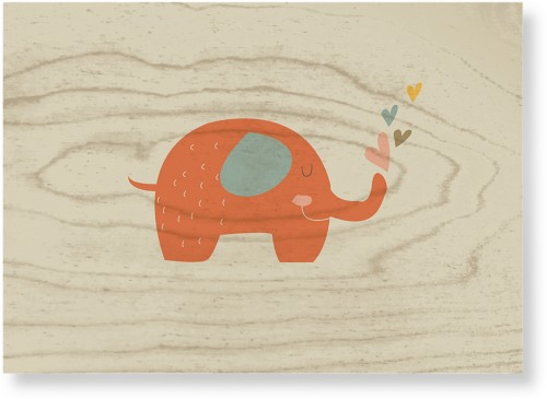 Heart Elephant Wood Wall Art, Single piece, 10 x 14 inches, Multicolor