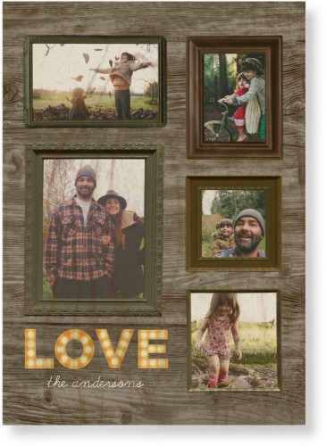 Photo Real Love Wood Wall Art, Single piece, 10 x 14 inches, Brown