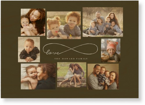 Love Infinity Wood Wall Art, Single piece, 10 x 14 inches, DynamicColor