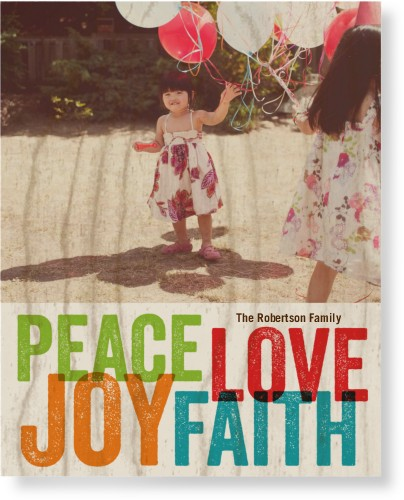 Faith Joy Peace Love Wood Wall Art