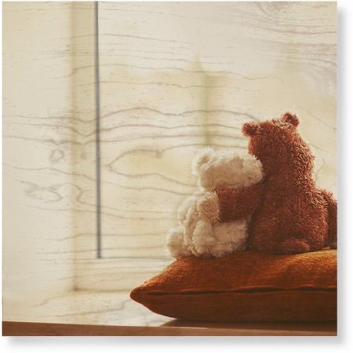 Bear Friends Wood Wall Art, Single piece, 16 x 16 inches, Multicolor