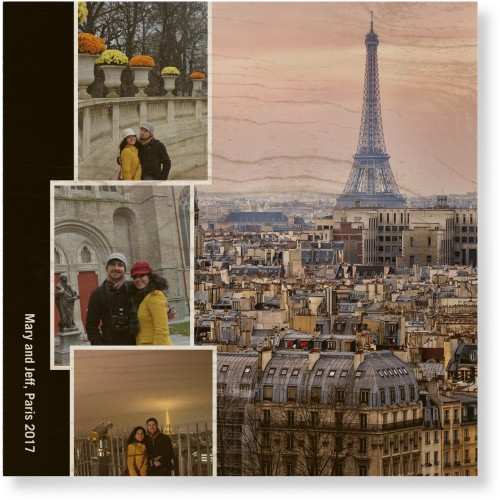 Paris Vacation Wood Wall Art, Single piece, 16 x 16 inches, DynamicColor