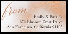 romantic texture address label