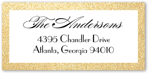 Exquisite Bride Address Label
