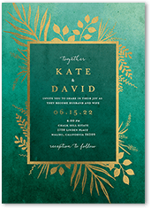 tropic fauna wedding invitation
