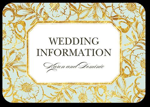 Gilded Lilies Wedding Enclosure Card