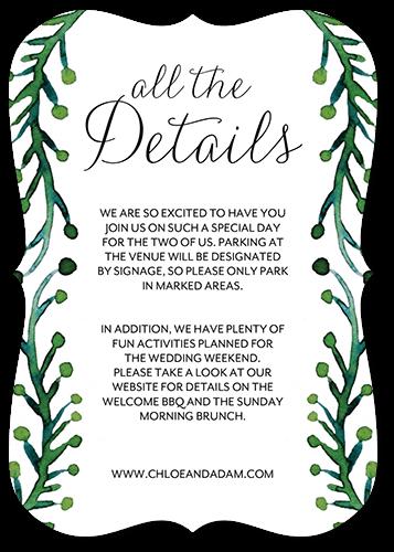 Lavish Laurel Wedding Enclosure Card