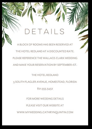 Tropical Herald Wedding Enclosure Card