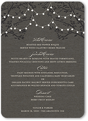 wedding menu cards shutterfly