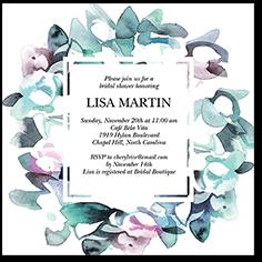 alluring wreath bridal shower invitation