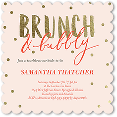 bubbly brunch bridal shower invitation