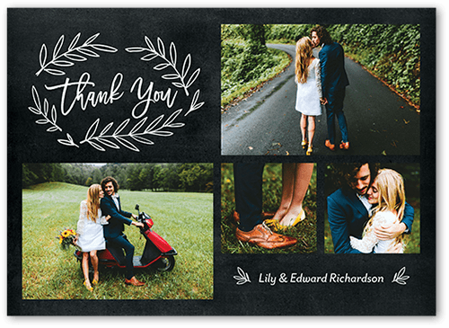 Botanical Thanks 5x7 Wedding Thank You Card Shutterfly