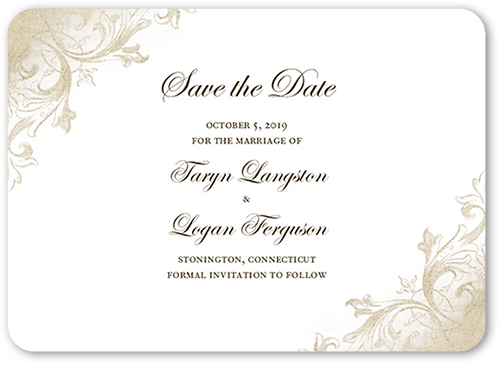 Faded Scroll Save The Date