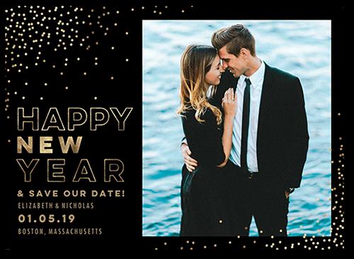 Festive Year Confetti Save The Date