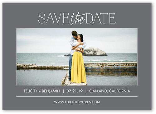 Simple Expression Save The Date, Square