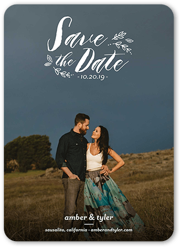Subtle Foliage Save The Date Cards Shutterfly