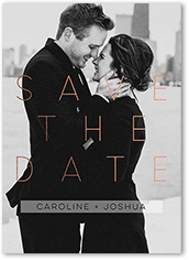 delicate overlay save the date