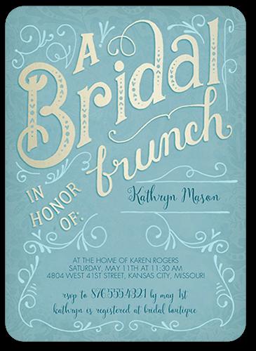 Bridal Brunch Bridal Shower Invitation, Rounded Corners