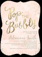 champagne confetti bridal shower invitation