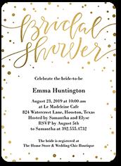 confetti bride bridal shower invitation