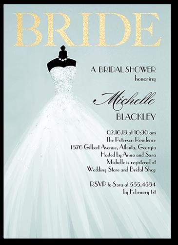 Exquisite Bride Bridal Shower Invitation, Square