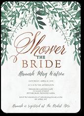 organic greenery bridal shower invitation