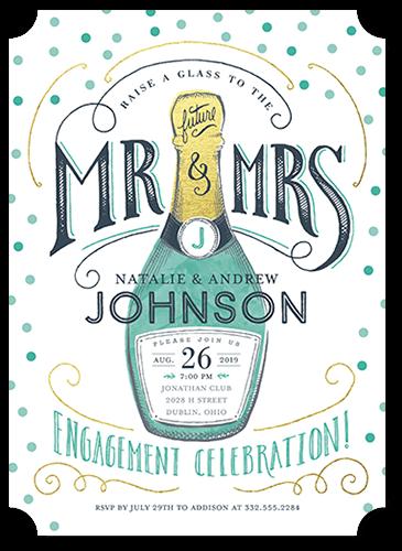 Sensational Celebration Engagement Party Invitation, Square