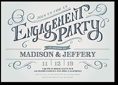 enchanting engagement engagement party invitation