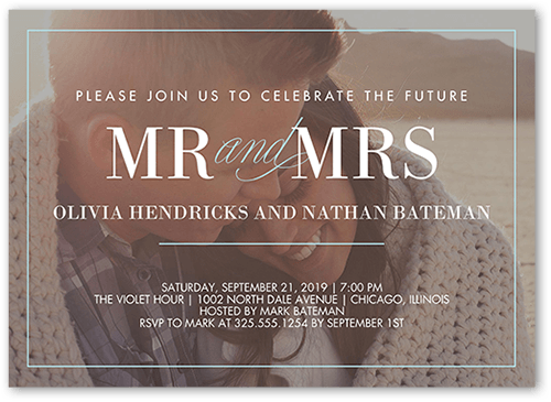 Our Beginning Engagement Party Invitation, Square
