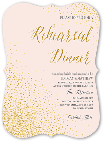 Spirited Rehearsal Rehearsal Dinner Invitation, Bracket Corners