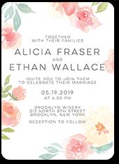 floral accessory wedding invitation