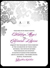 luscious lacing wedding invitation