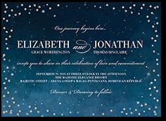 sparkling sky wedding invitation