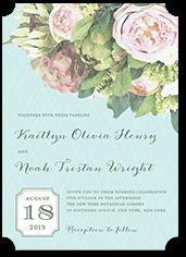 flowering affection wedding invitation
