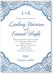 foremost floral wedding invitation