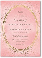 resplendent night wedding invitation