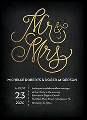 adorned title wedding invitation