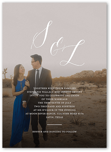 Modern Minimalist Wedding Invitation