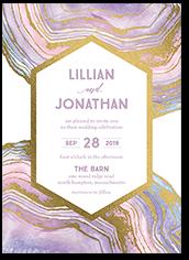 opulent lines wedding invitation